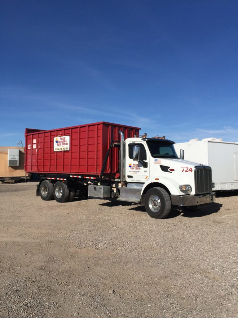 Roll-off dumpster truck